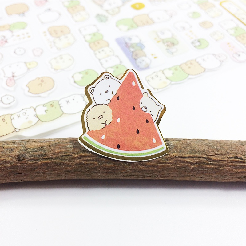 Купить с кэшбэком 1sheet/set Cute Cartoon Rabbit Paper Stickers DIY Dairy Planner Decoration Sticker School Supplies Multi Design Scrapbooking