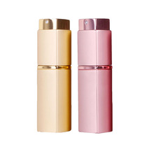 2 Colors 20ml Mini Portable Refillable Perfume Atomizer Spray Bottles Empty Bottles Square Cosmetic Containers Bottles Gifts