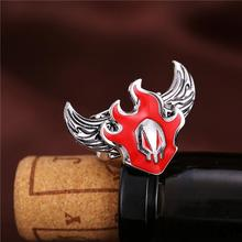 Bleach Fire Symbol Rings Wings Ring Rotatable Punk Ring