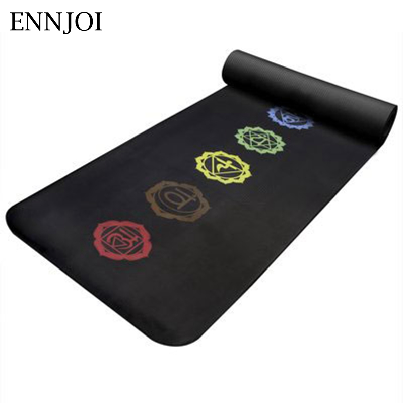 ENNJOI New Design 15MM Thickness Slim Printing Yoga Mat Non-slip Tasteless Thickening Exercise Pad Lose Weight Fitness Mat