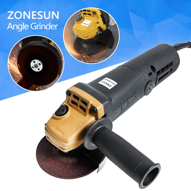 ZONESUN Angle Grinder 11500r/min Cutting Polishing Machine Hand Wheel Electric Concrete Angular Grinding Domestic Multifunction fast shipping at3110b multifunctional a tractor serves several purposes angle grinder cutting hand wheel electric