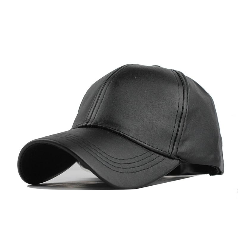 [FLB] Partihandel Ny Vinter PU Läder Kepsar Baseball Cap Biker - Kläder tillbehör - Foto 6