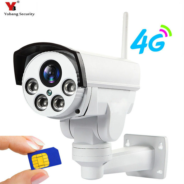 YoBang sécurité 4G caméra SIM carte 2MP 1080 P HD extérieur Draadloze Wifi IP caméra CCTV Surveillance caméra prend en charge jusqu'à 128 GB