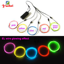 Wire-Light Diy Decor Party Flexible Electroluminescent for Toys/craft 5pieces Neon-Rope