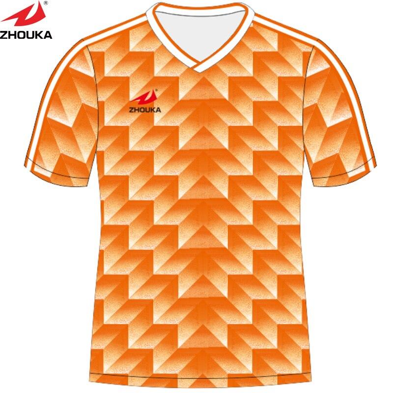 Custom retro Soccer jersey sublimation print pattern make football training  jersey thailand football shirts maillots de football dd33056a6