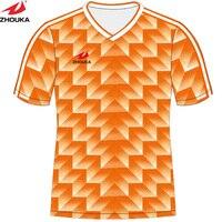Kundenspezifische retro Fußball jersey sublimation druckmuster machen fußballtraining jersey thailand fußball shirts maillots de football