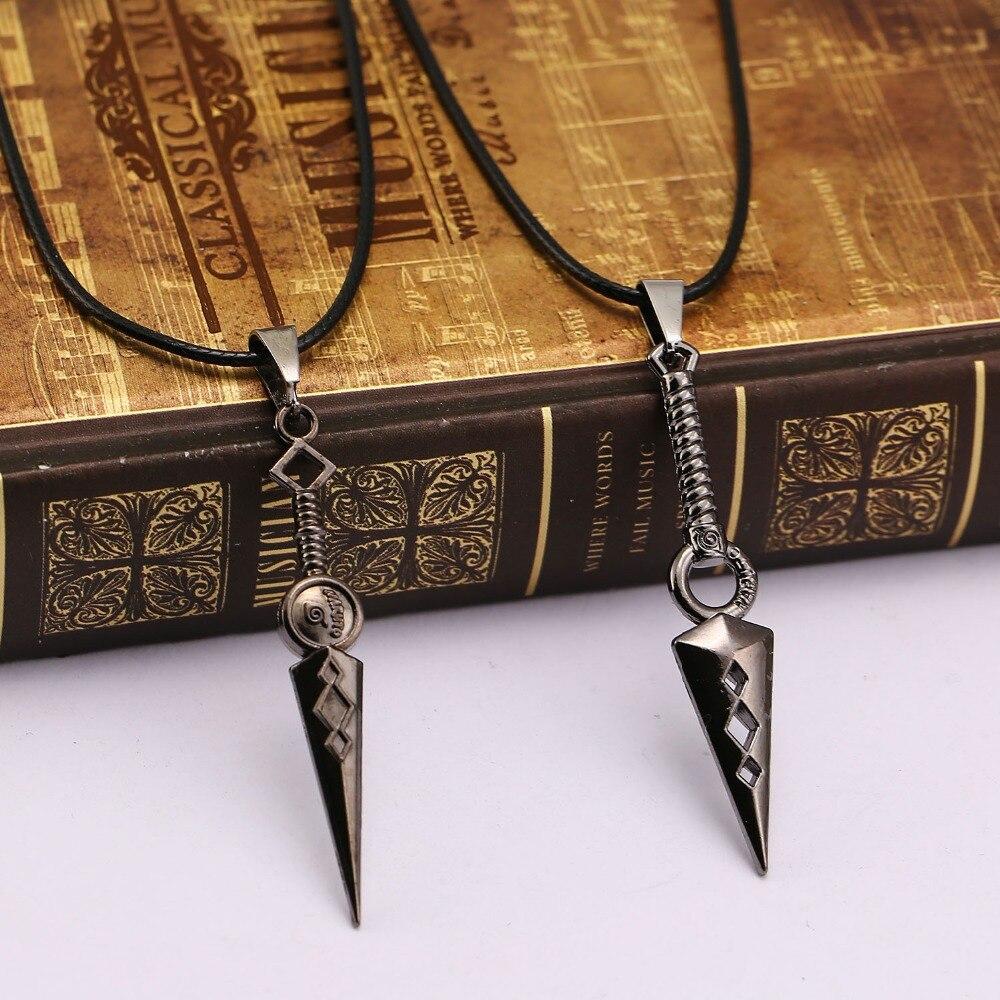 2017 New arrival Naruto metal Kunai Japanese Ninja Cospl Mini naruto Props pendants necklace cospl jewelry