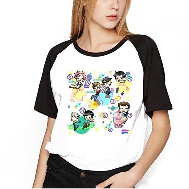 2018 GOT7 Tshirt Kpop Got7 BAMBAM JB Jackson Short Sleeve T-shirt GOT 7  Kpop Hip Hop T Shirt Women Tee Shirt Women 47979525e2