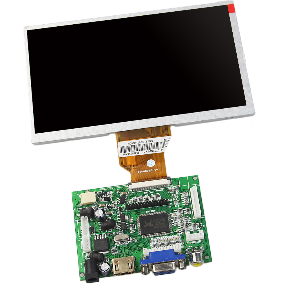 цены VGA+AV+HDMI TFT VGA driver board 2014 NEW BOARD 7inch tft lcd module with 800x480 800*480 resolution AT070TN92 for car DVR