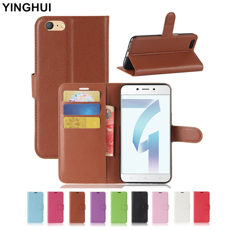 """For OPPO A71 Case Cover 5.2"""" Wallet PU Leather Case for OPPO A71 Flip Cover Phone Cases with Stand Card Slot Holder Function"""