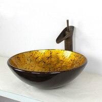 Creative European retro above counter basin Glass washbasin art basin Bathroom washbasin LU1120941