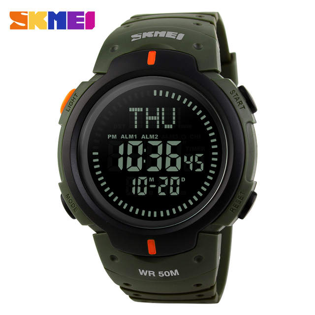 0525b096b0b Online Shop Men Watches SKMEI Brand Men Sport Watch 50M Waterproof Digital  Fashion Outdoor Military Compass Wristwatches Relogio Masculino
