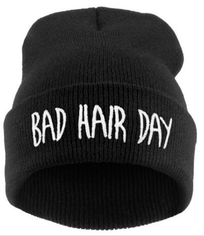 2016 New Bad Hair Day Beanie Cap Women/Men Hat Beanie Knitted Hiphop Hats For Women Fashion Hat Wholesale Cap For Women 2017 new wool grey beanie hat for women warm simple style bad hair day knitting winter wooly hats online ds20170123 x24