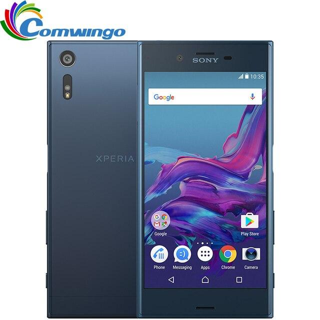 Оригинальный Sony Xperia XZ F8332 (2016) 3 Г ОЗУ 64 ГБ ROM Android 6 Dual Sim Snapdragon 820 23MP 4 Г LTE Мобильный Телефон Sony xz