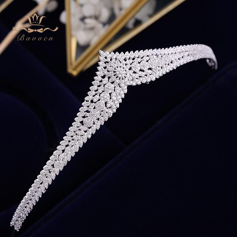 Image 2 - Korean Brides Sparkling Gold Wedding Tiaras Crowns Full Zircon  Bridal Hairbands Crystal Hair Accessories Wedding Hair JewelryHair  Jewelry