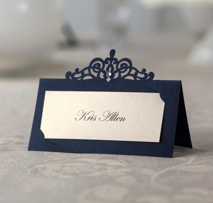 Aliexpress Buy Blue Laser Cut Wedding Invitations Name Place – Custom Printing Wedding Invitations