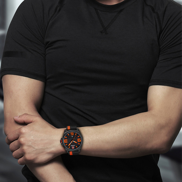 NAVIFORCE New Watch Men Sports Quartz Watches Men's Colorful Fashion Casual Watches Clearly Analog Male Clock Relogio Masculino