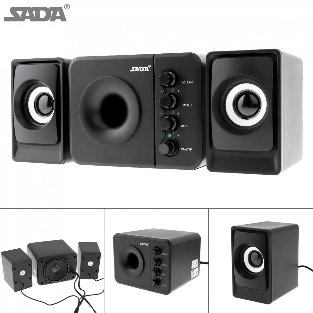 SADA D-205 USB2.0 Subwoofer Computer Speaker with 3.5mm Audio Plug and USB Power Plug for Desktop PC Laptop MP3 Cellphone MP4 стоимость