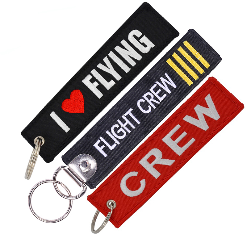 Pilot Keychain 100% Embroidered Aviamart® Luggage Tag Flight Crew Tag