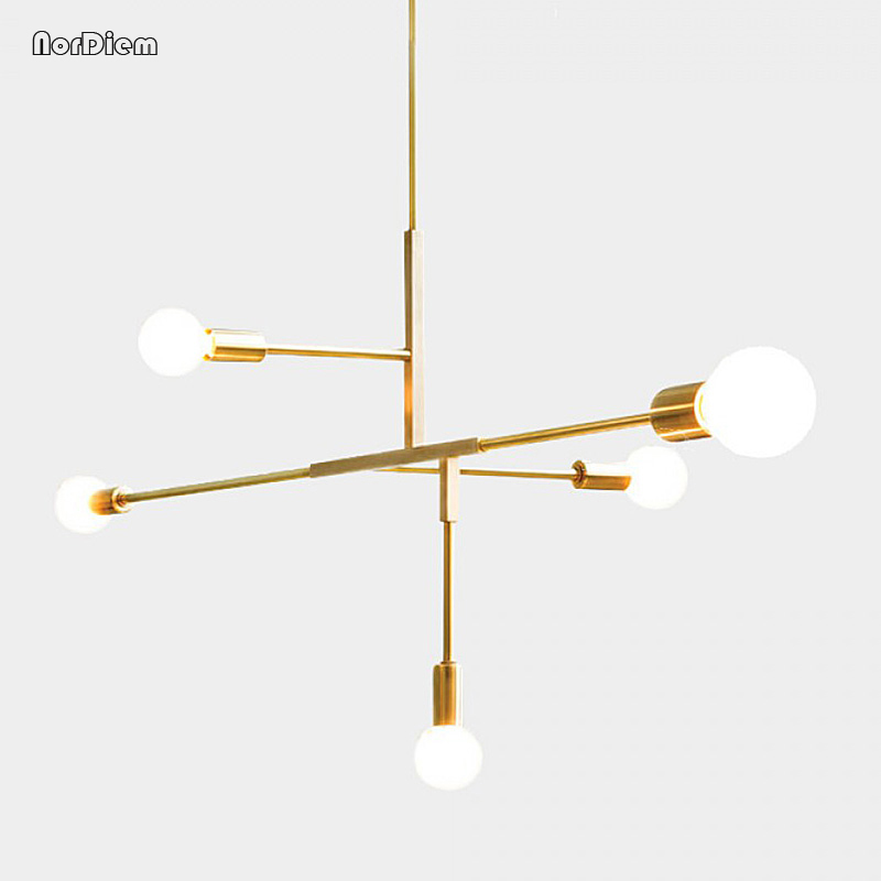 Modern Cross Style LED Pendant Lamp Lights Bedroom Foyer Dinning Room Kitchen Gold Nordic Modern Pendant Lighting Hanging Lamp