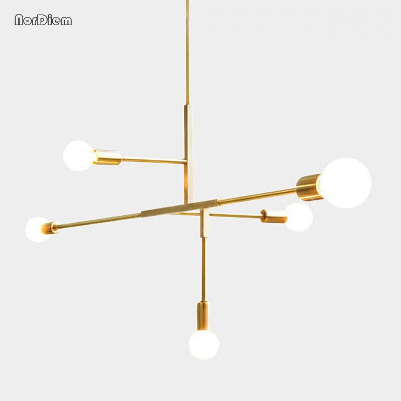 Moderne croix Style LED Pendentif lampe lumières chambre foyer salle à manger cuisine or nordique moderne Pendentif d'éclairage lampe suspendue