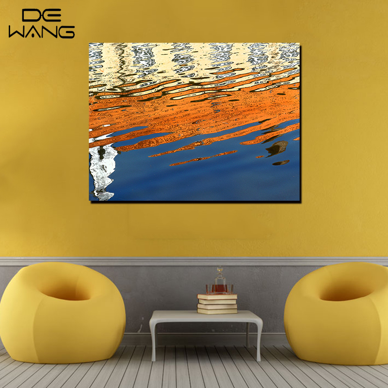 Single Panels Canvas Art Printed Poster Abstract Water Wave Autumn ...