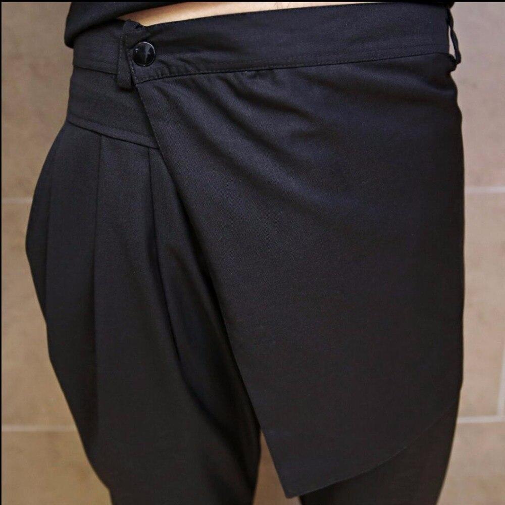 Marea Ajustados Los 2019 Harén Negro Hombres De Nuevos 5xl Club Estilista Slim M Pantalones Casuales Verano Patchwork Personalidad Falda Xc5Wqw8nP7