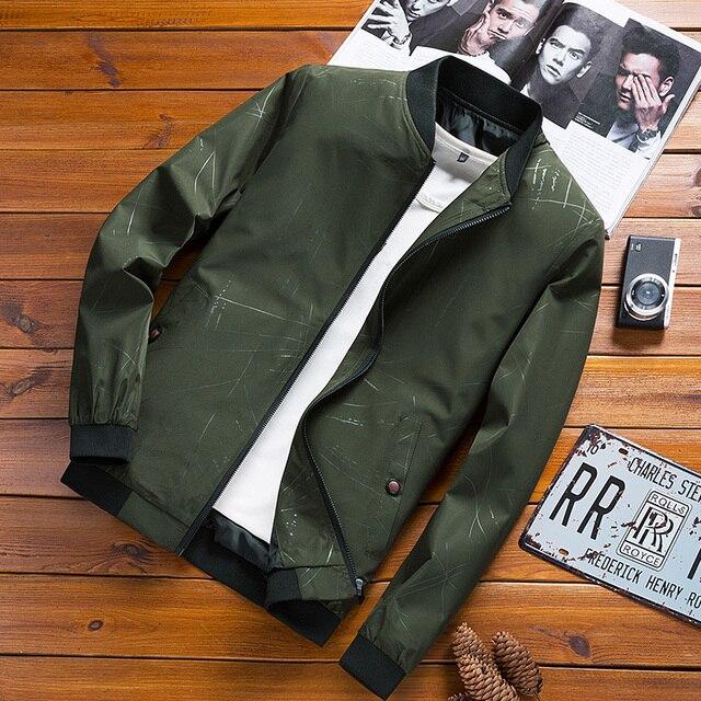2018 Новая весна тонкий цветочный куртка весна и осень модная красивая мужская повседневная куртка