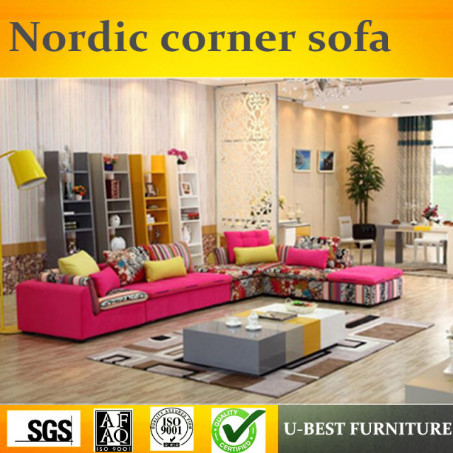 U Best Nordic Sofa Set Design Fancy Fabric Scandinavian Corner Designs Living Room