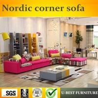 U BEST נורדי עיצוב סט של הספה בד מהודר סקנדינבי פינת ספה  ספת חתך סלון עיצובים|corner sofa|corner sofa designdesigner corner sofa -