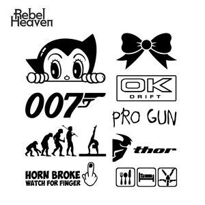 Rebel Heaven Car Styling PRO GUN OK 007 JDM Funny Car Sticker Vinyl Car Window Bamper Waterproof Motorcycle Decorative Sticker