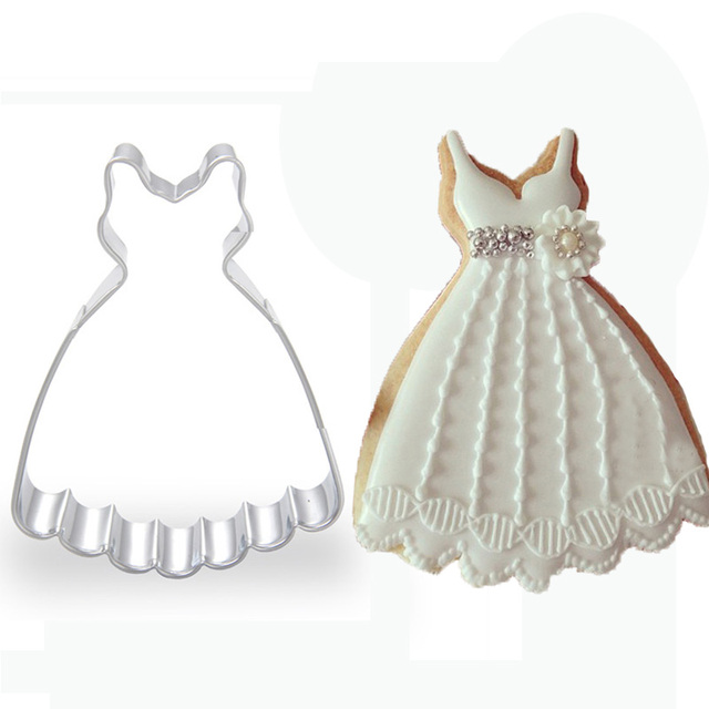 princess dress metal cookie cutter wedding favors and gifts baking ...