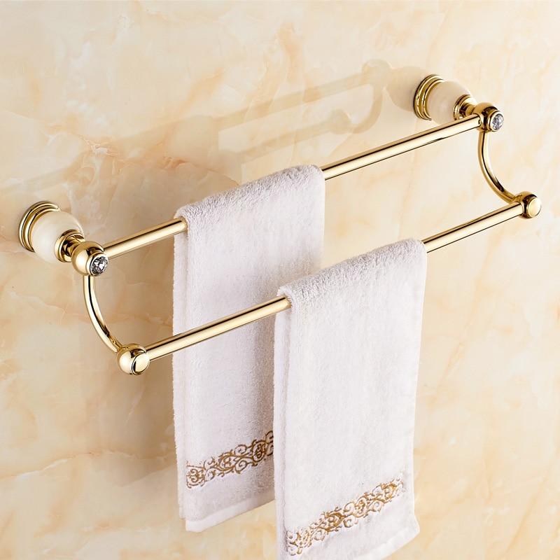 Jade Pendant Bathroom Towel Rack Copper Towel