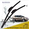 Replacement Wiper Blades For Renault Kangoo 2009 Onwards Two Rear Door 22 22 Fit Standard Hook