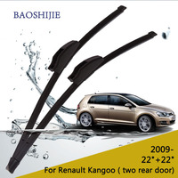 Replacement Wiper Blades For Renault Kangoo 2009 Onwards Two Rear Door 22 22 Fit Standard Hook