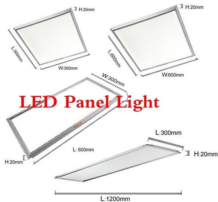 ФОТО DHL Square LED Panel Light 600x600mm 48w 300x300 18w LED Panel 300x600 24w LED Ceiling Light Spotlight 4800lm Indoor Lighting