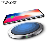 IPUMYNO Wireless Charger for iPhone X 8 XS 10W USB Wireless Charging for Samsung Galaxy S8 S9 S7 Edge Qi USB Wireless Charger