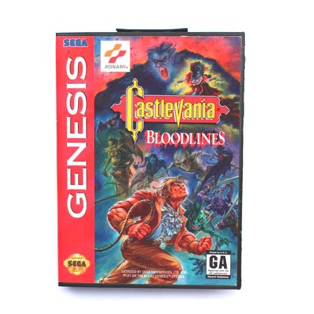 16 bit Sega MD game Cartridge with Retail box - Castlevania Bloodlines game card for Megadrive for Genesis system
