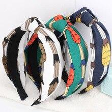 3pcs/lot Pineapple Headbands Stretch Twisted Turban Fruit Print Hair Bands For Women Girls Hair Accessories Summer Headwear