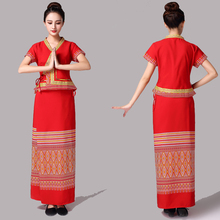 Summer Thailand women clothing traditional wear dress festival vestido lady Asia ethnic costume