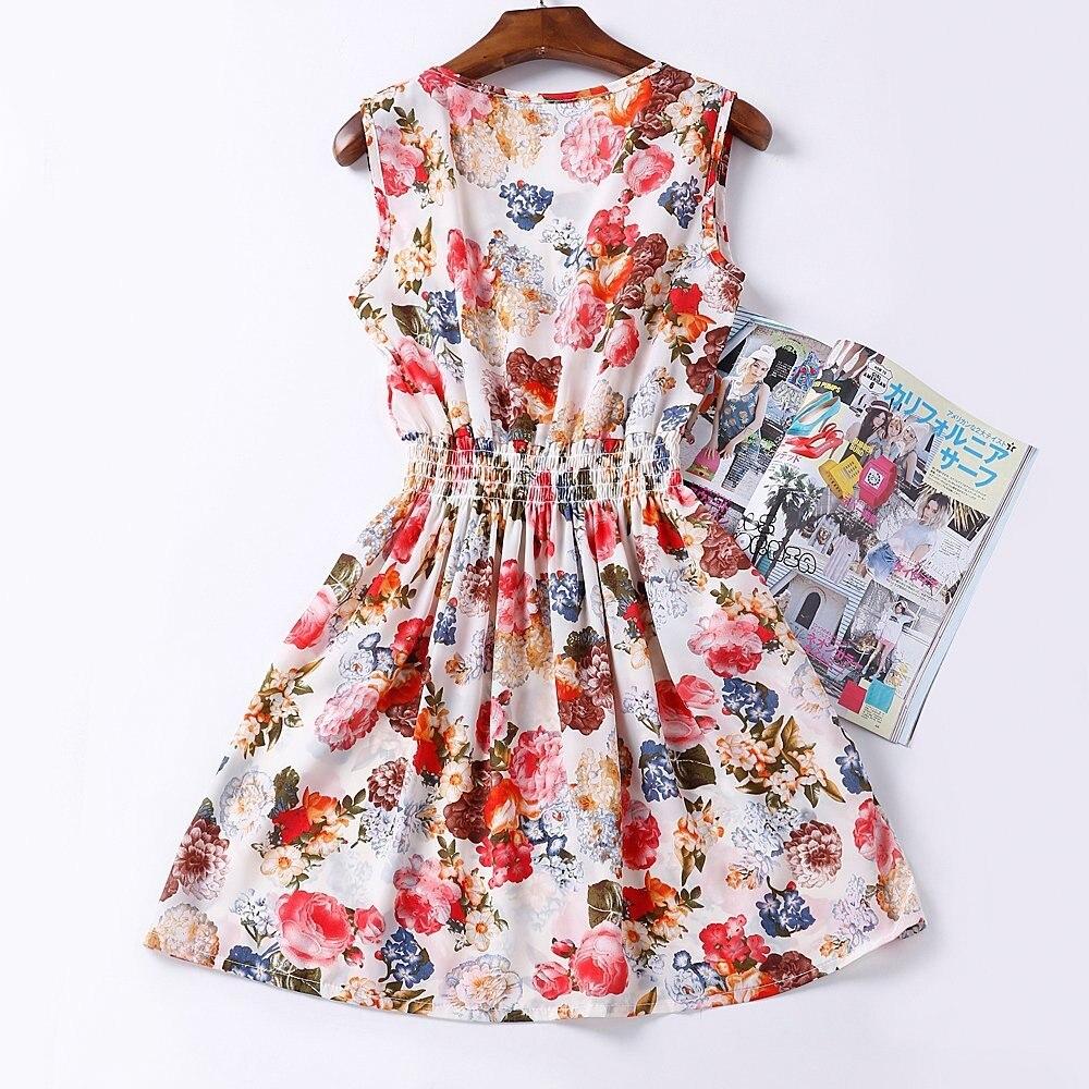 HTB1JnT.HFXXXXX0XpXXq6xXFXXXR - Summer Women Dress Vestidos Print Casual Low Price