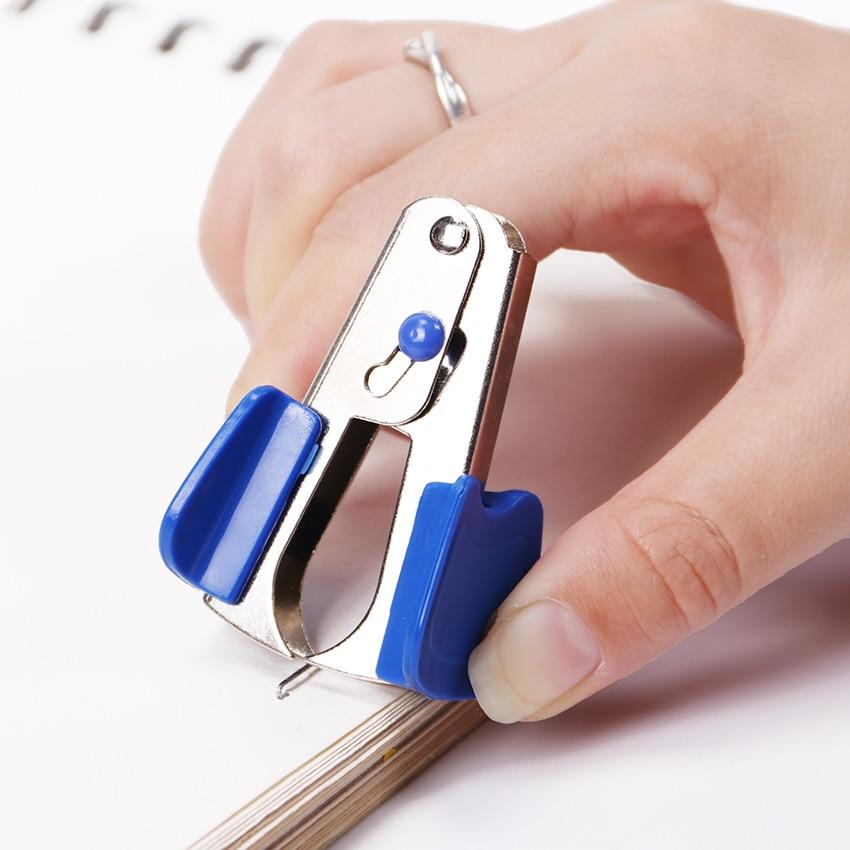 Multicolor Metal Plastic Mini Staple Remover Easy to Use Handheld Staple Remover School Office Supplies