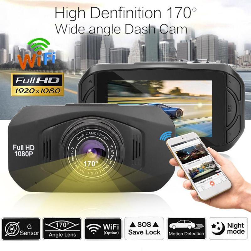 2.7inch Car DVR Camera 1080P HD WiFi 170 Wide Angle Lens Car DVR Night Vision Dash Cam For Driving Recording Car Detector New ambarella a7 hd 18mp 1080p 60fps cmos 170 wide angle night vision car dvr camcorder black