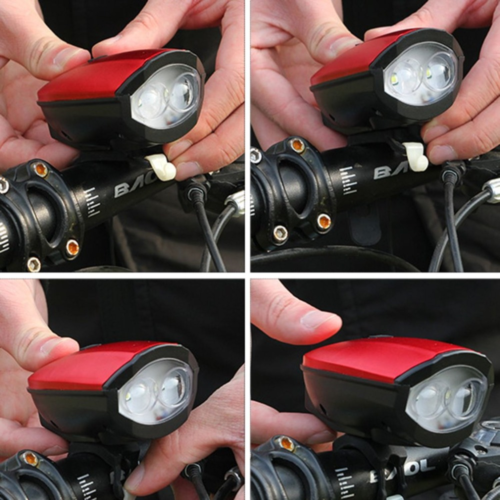 Best 2018 New Universal USB Rechargeable Bike Light Loud Sound Bicycle Bell Light Waterproof Super Bright LED Lamp Front Headlights 8