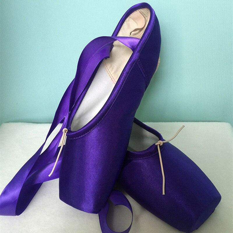 LUCYLEYTE enfant et adulte ballet pointe chaussures de danse dames 6 couleurs professionnel rouge violet bleu noir ballet pointe chaussures de danse