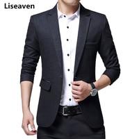 Liseaven Men's Blazers suit jacket Casual Men Blazer Cotton Slim Suit Masculino Male Jacket Blazer Men