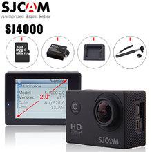 Оригинал sjcam sj4000 действие видеокамеры водонепроницаемый 30 м дайвинг sj CAM 4000 Основные Спорт DV 1080 P Full HD Mini Шлем видеокамеры