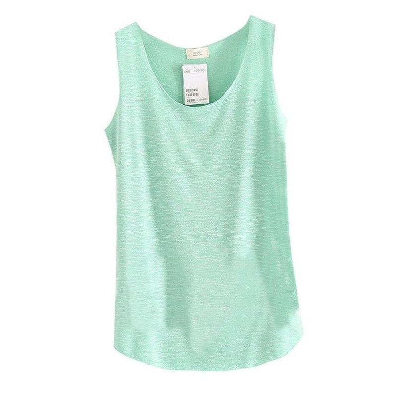 2017 baju musim panas wanita buluh kapas tanpa lengan pusingan leher - Pakaian wanita - Foto 6