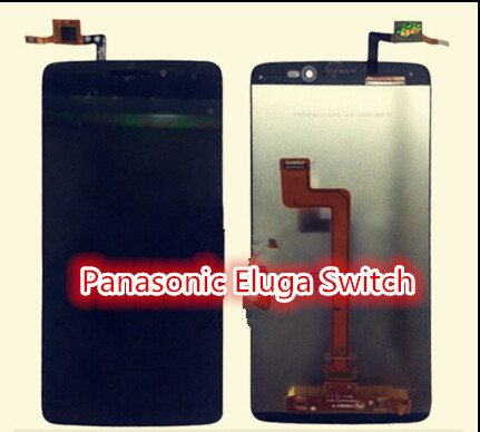 ФОТО Black Full LCD display + Touch screen digitizer assembly For Panasonic Eluga Switch lcd screen with assuring