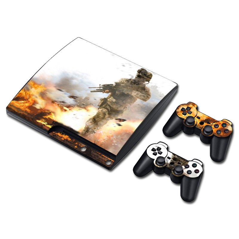 Skin Sticker for PS3 Slim Console Controller Games Cover--two sexyt girls style #TN-P3Slim-0011